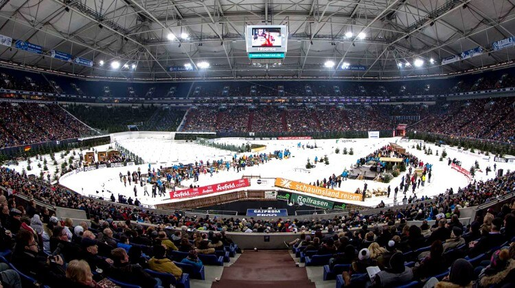 Innenraum Biathlon auf Schalke
