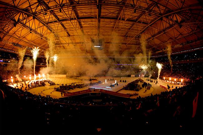 Biathlon Indoor-Feuerwerk