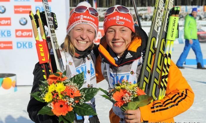 Siegerehrung Biathlon Welctcup IBU