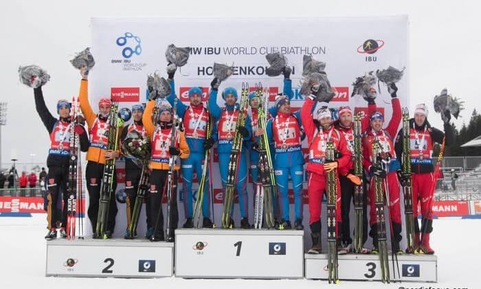 Siegerehrung Biathlon