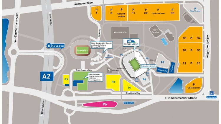 Karte VELTINS-Arena