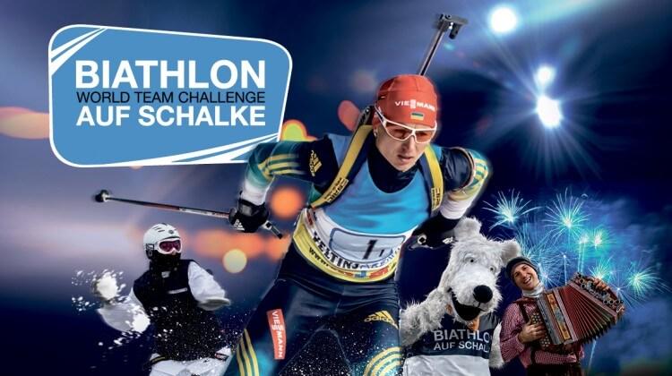 Veranstaltungsdesign Biathlon auf Schalke