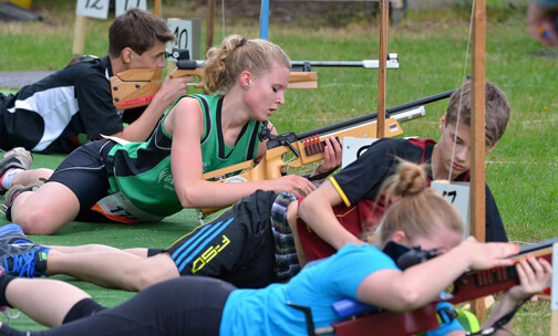 Sommerbiathlon Training