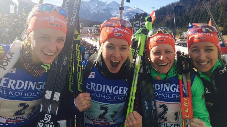 Biathlon Damen-Staffel