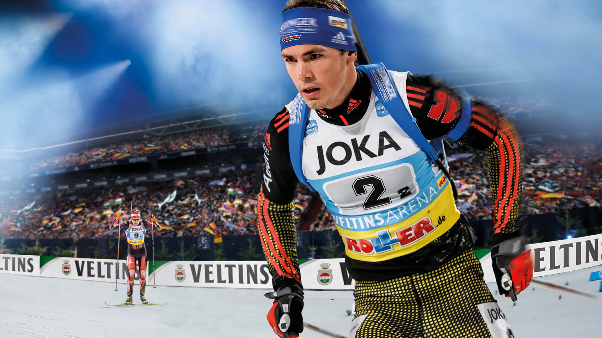 joka ist titelsponsor der biathlon wtc auf schalke joka biathlon wtc. Black Bedroom Furniture Sets. Home Design Ideas