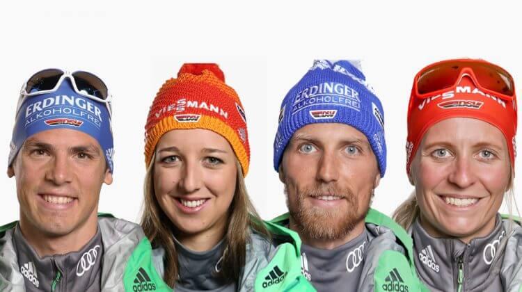 Deutsche Athleten Biathlon auf Schalke