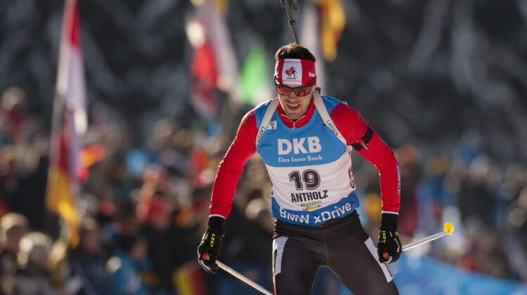 "Nathan Smith CAN Aktion Biathlon Welt Cup 10 KM Sprint der Herren in Antholz, Italien am 22.01.2016 Copyright by ROLF KOSECKI  - ""An Tiebes Eiche 22 - 53229 Bonn - Tel:0228 977 540 - Mobil:0171 220 7798 - Fax:0228 977 5419 - Konto: Deutsche Bank Bonn - IBAN: DE94380700240095137600 - BIC: DEUTDEDB380"""