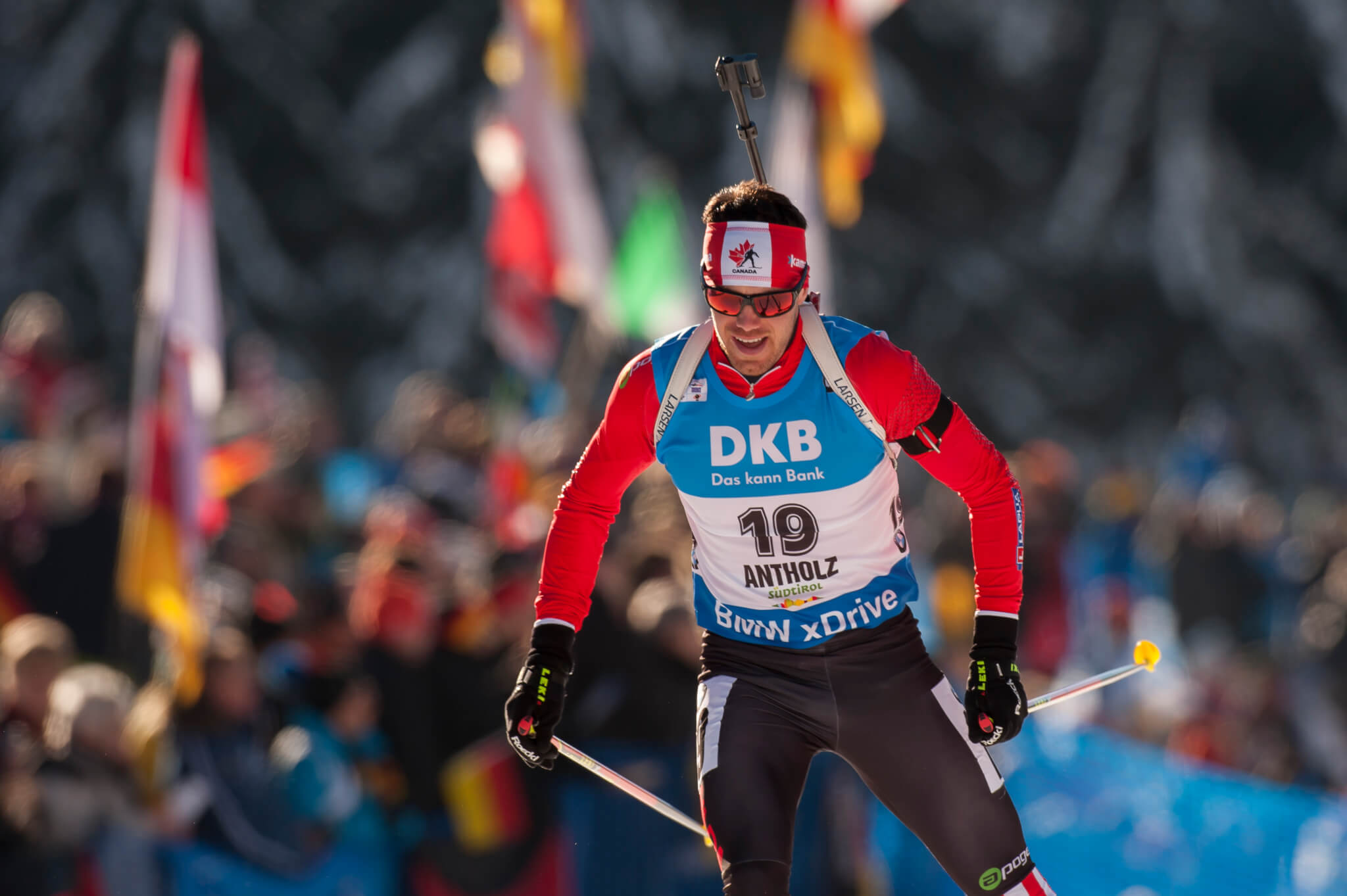 "Nathan Smith CAN Aktion Biathlon Welt Cup 10 KM Sprint der Herren in Antholz, Italien am 22.01.2016 Copyright by ROLF KOSECKI  - ""An Tiebes Eiche 22 - 53229 Bonn - Tel:0228 977 540 - Mobil:0171 220 7798 - Fax:0228 977 5419 - Konto: Deutsche Bank Bonn - IBAN: DE94380700240095137600 - BIC: DEUTDEDB380"""