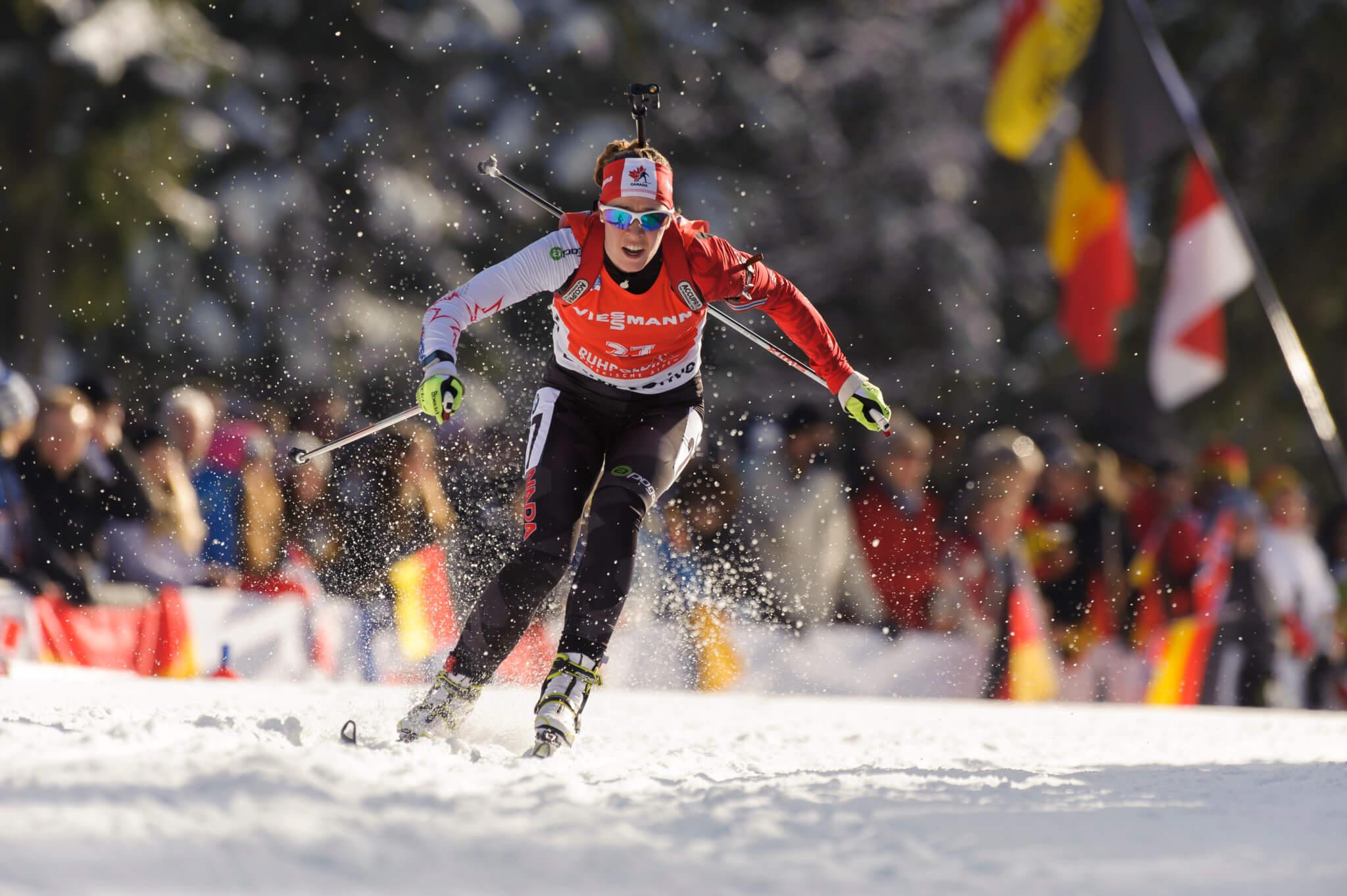 "Gabriela Soukalova CZE Biathlon Welt Cup in Hochfilzen, Oesterreich am 11.12.2014 Copyright by ROLF KOSECKI - ""An Tiebes Eiche 22 - 53229 Bonn - Tel:0228 977 540 - Mobil:0171 220 7798 - Fax:0228 977 5419 - Konto: Deutsche Bank Bonn - IBAN: DE94380700240095137600 - BIC: DEUTDEDB380"""