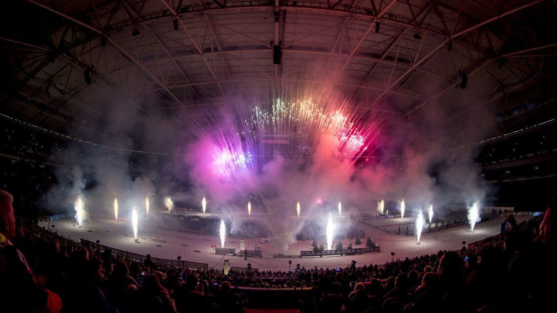 Feuerwerk Biathlon auf Schalke