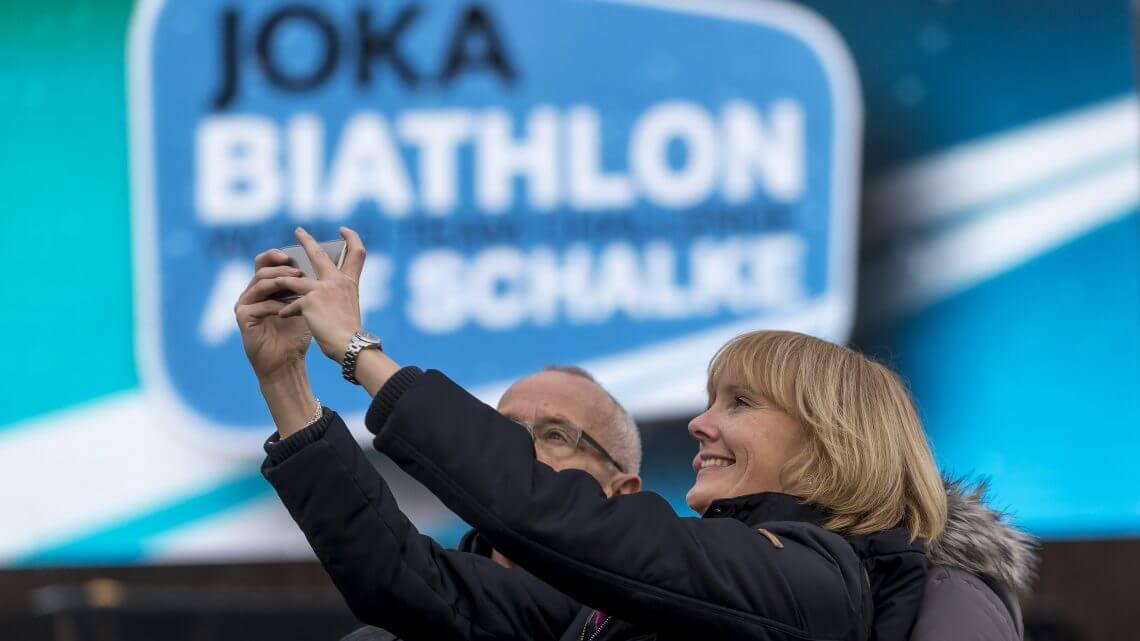 Selfie auf Schalke