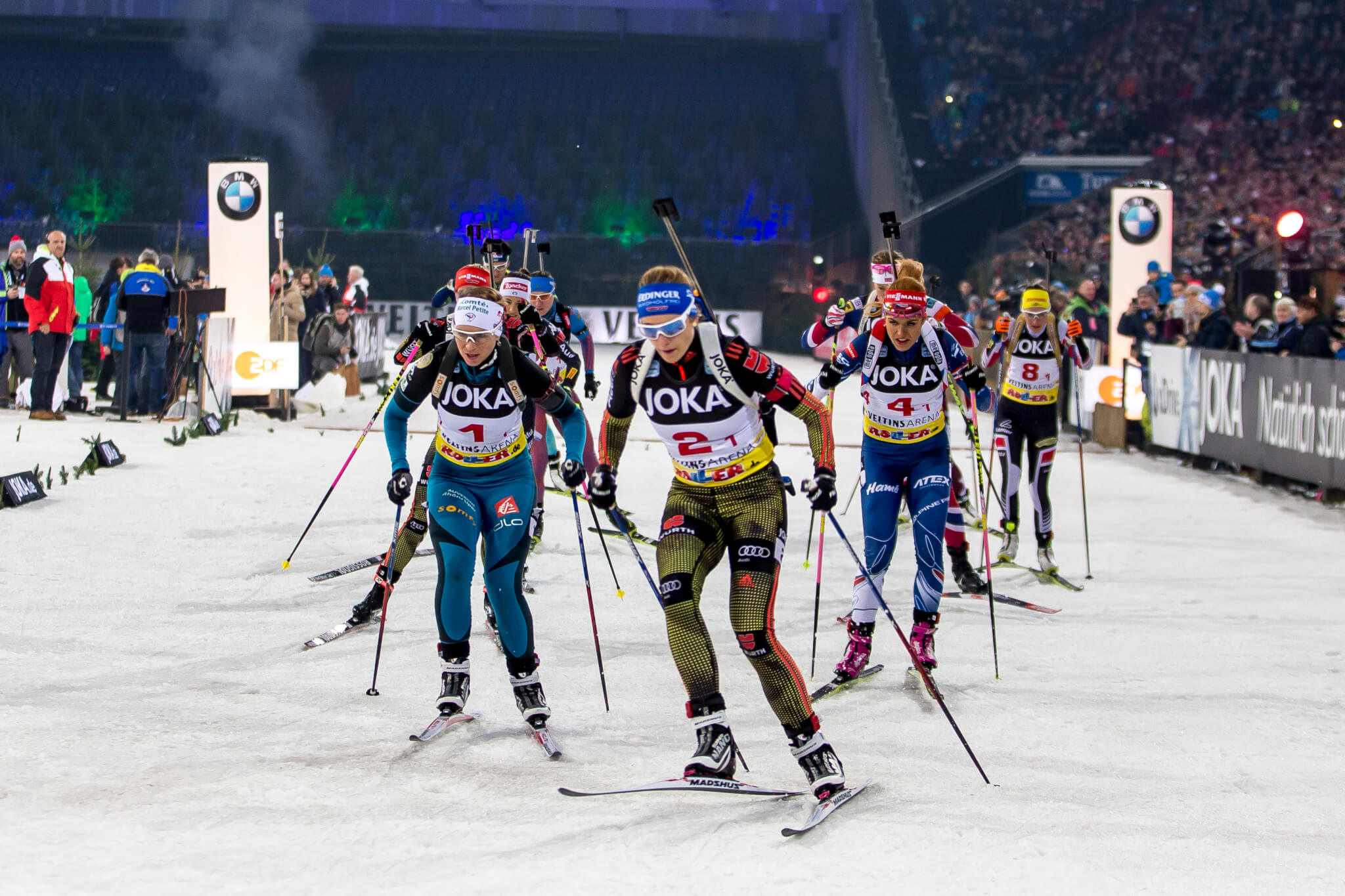 starterfeld beim biathlon auf schalke joka biathlon wtc 2017. Black Bedroom Furniture Sets. Home Design Ideas