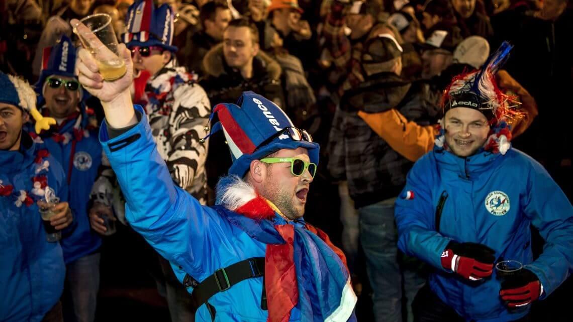 Biathlon Fans auf Schalke