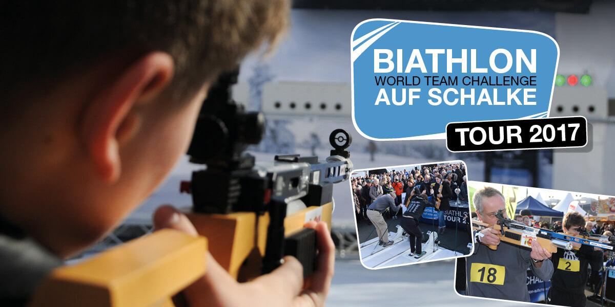 Biathlon auf Schalke-Tour 2017