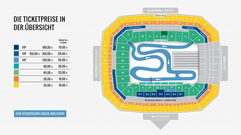 Stadionplan und Tickets für den Biathlon auf Schalke in der VELTINS-Arena