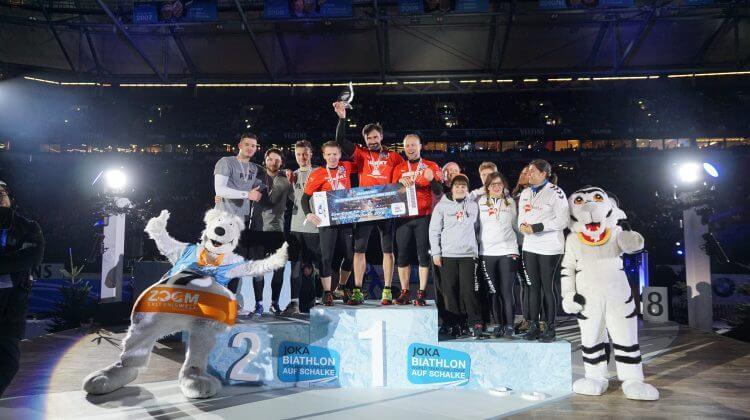 Die Sieger der Schneeballschlacht-WM 2017 auf Schalke