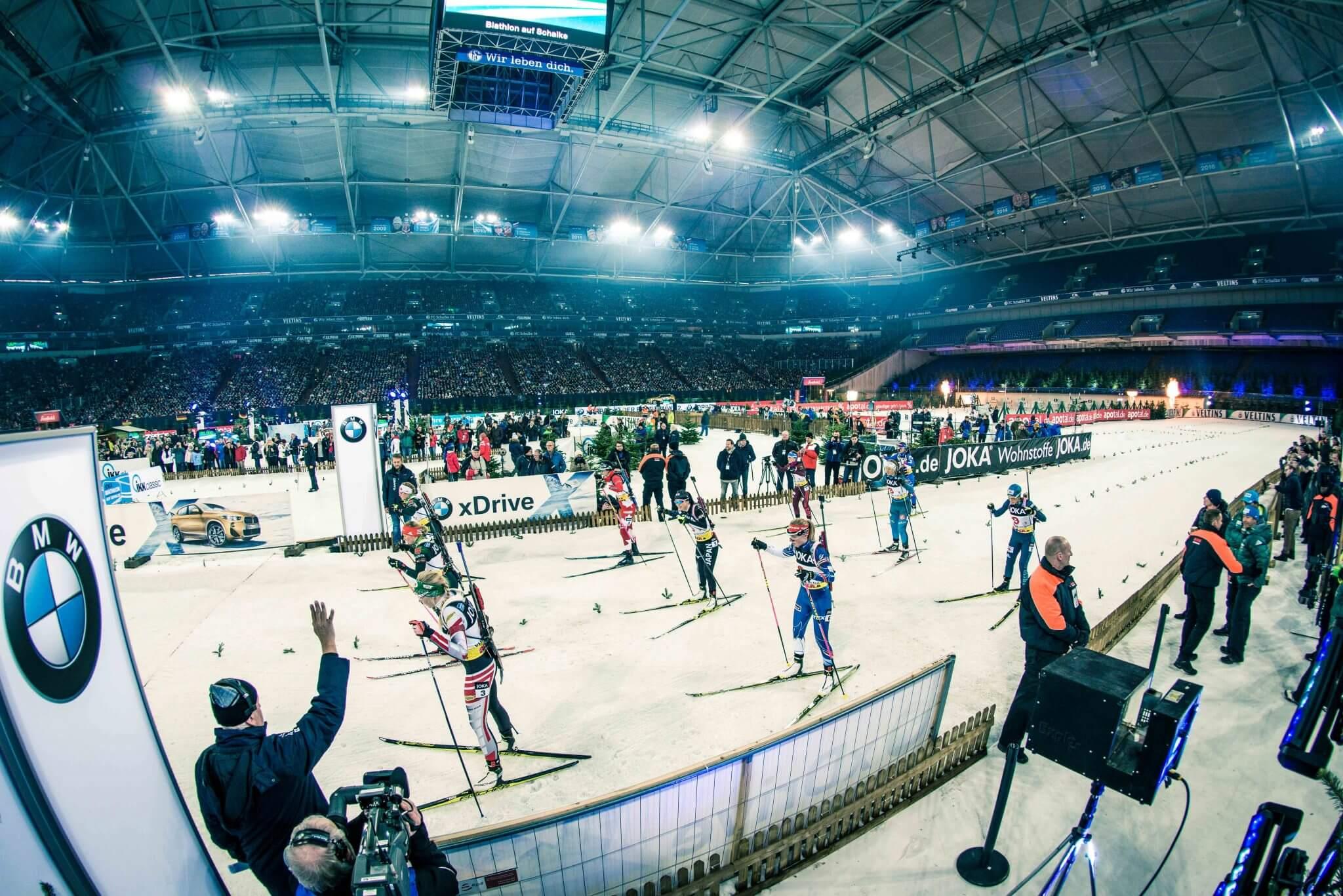 Joka München das starterfeld beim biathlon auf schalke 2018 joka biathlon wtc