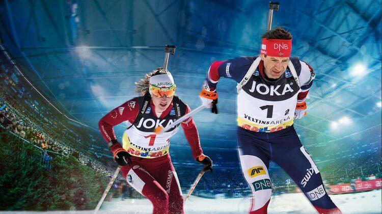 Ole Einar Björndalen und Darja Domratschewa