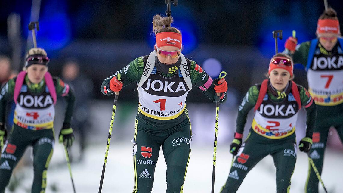 Juniorrennen im Rahmen von Biathlon auf Schalke