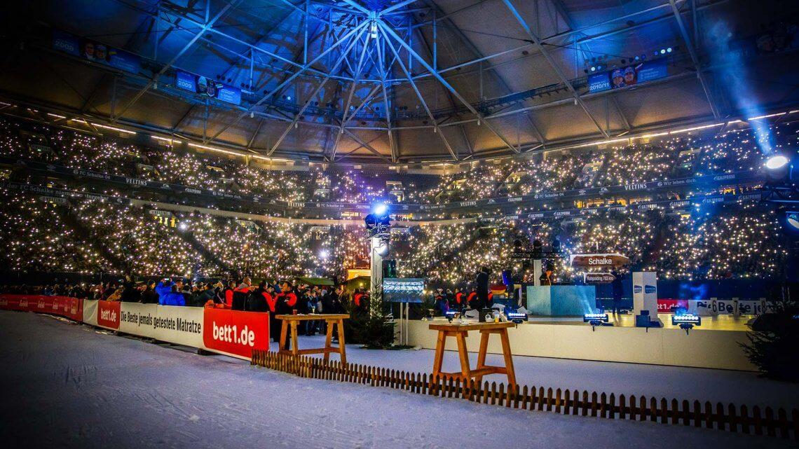 VELTINS-Arena Innenraum Biathlon Schalke