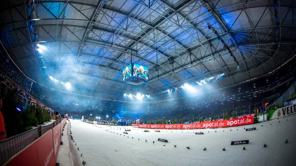Biathlon auf Schalke Innenraum Südkurve