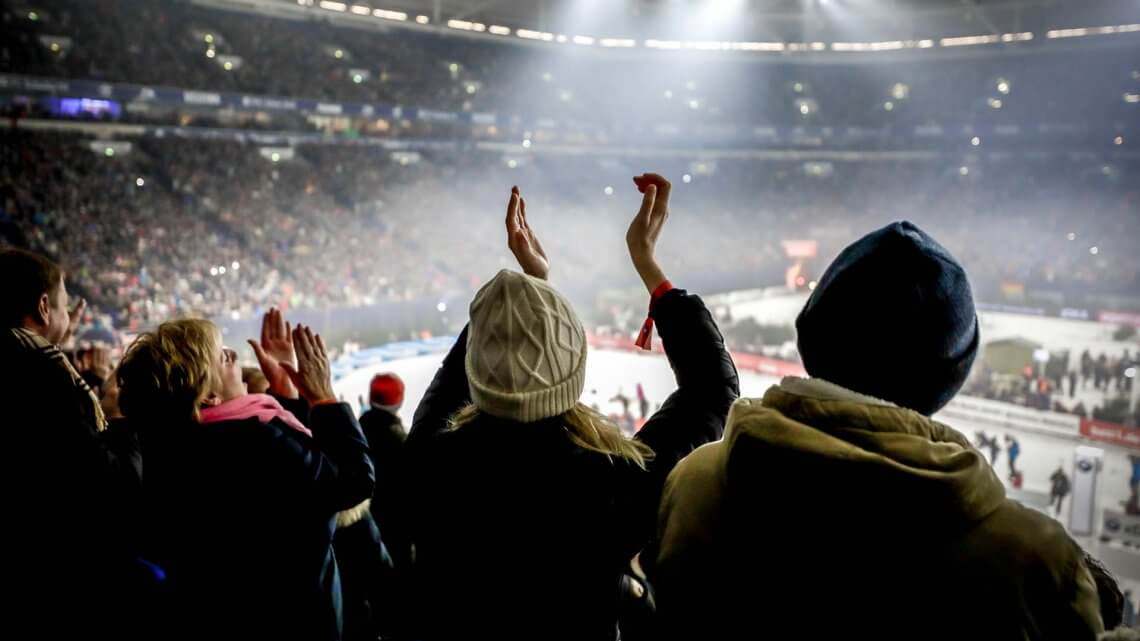 Biathlon auf Schalke Fans VELTINS-Arena