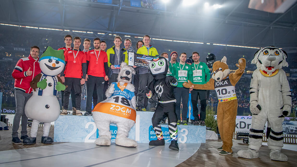 Siegerehrung in der VELTINS-Arena